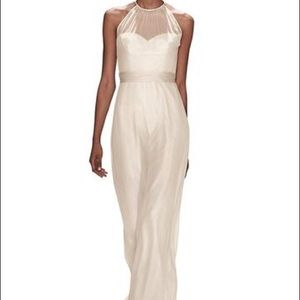 Amsale evening gown style G904C in Dove